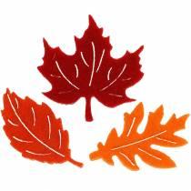 Dryss deco høstfiltark rød, oransje 3,5cm 36stk