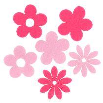 Følte blomsterrosa, rosa 3,5cm 96p