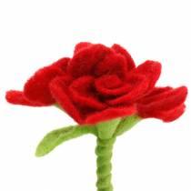 Filtblomst 15cm med 3 blomster