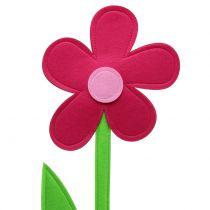 Følte blomsterrosa 120cm
