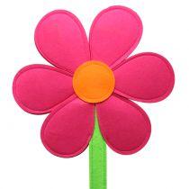 Følte blomsterrosa 87cm