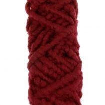 Filtsnor fleece Mirabell 25m mørk rød