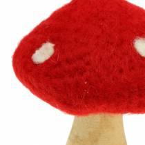Fluesopp høstdekorasjon rød H13,5cm 2stk