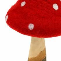 Fluesopp høstdekorasjon rød H27cm