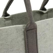 Filtpose grå / brun 54cm x 34cm x 15cm