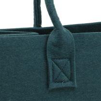 Filtveske blågrå 40cm x 20cm x 25cm