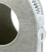 Filtveske grå H58cm