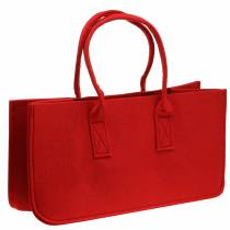 Filtpose rød 50 × 25 × 25cm