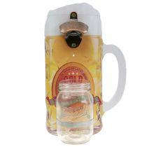 Veggflaskeåpner med oppsamlingsbeholder 30cm x 18cm