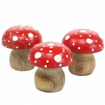 Dekorative paddehatter tre Ø4,6–5cm H4,6–4,9cm 6stk