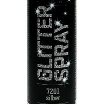 Glitter spray sølv 400ml