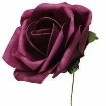 Foam-Rose Ø10cm forskjellige farger 8stk