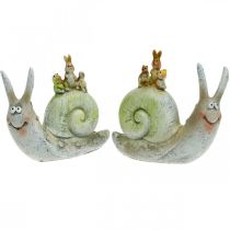Vennlig dekorativ snegl med ledsagere, vår, borddekorasjon, tamsnegl 2stk