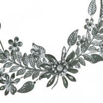 Vårdekorasjon, dekorasjonsringblomster, metallpynt, anheng blomsterdekorasjon Ø16cm 2stk