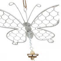 Vårdekorasjon, metallsommerfugler, påske, dekorasjon anheng sommerfugl 2stk