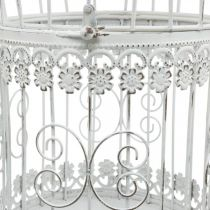 Vårdekorasjon, fuglebur å henge, metalldekorasjon, vintage, bryllupsdekorasjon 28,5 cm