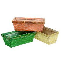 Vårkurv 25x13x9cm oransje, gul, grønn 6stk