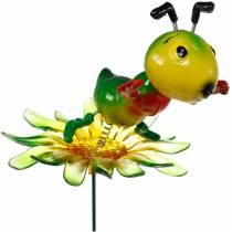 Hagepluggrist på blomsten fargerik 11cm