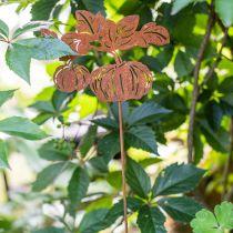 Hageplugg gresskar rust hagepynt høstmetall 57cm