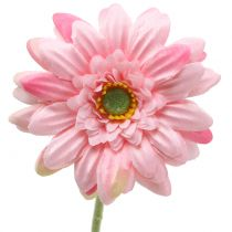 Gerbera rosa kunstig 47cm 12stk