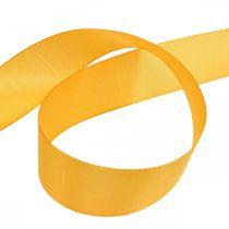 Gavebånd dekorasjonsbånd oransje silkebånd 40mm 50m