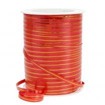 Gavebånd rødt med gullstriper 4.8mm 250m