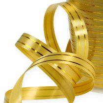 Delt bånd 2 gullstrimler på gull 10mm 250m