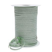 Gavebånd med glimmer lysegrønn 5mm 150m