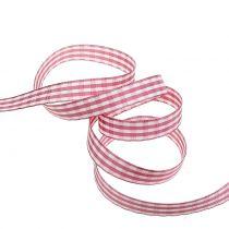 Gavebånd diamanter rosa 15mm 20m