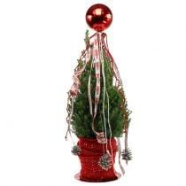 Julekule plast liten Ø14cm rød 1p