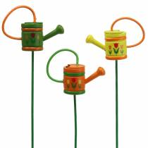 Blomsterkanne vannkanne tregrønn, gul, oransje assortert 7,5 cm x 5,9 cm H30,5 cm 12stk