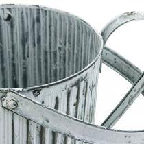 Metallkanne for planting, vannkanne for dekorering, plantingskanne Ø17cm