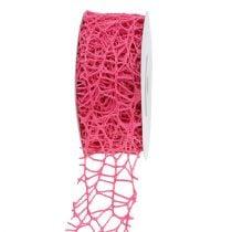 Mesh bånd rosa 40mm 10m