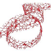 Rutenettbånd rød 40mm 10m