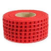 Rutenettbånd 4,5cm x 10m rødt