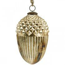 Høstdekorasjon, dekorativt ekorneglass, advent, antikt utseende Ø12cm H21cm