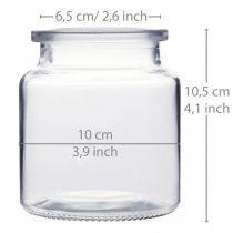 Glasskar for fylling, blomstervase, borddekorasjon, glasslykt 2stk