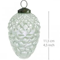 Tredekorasjonskjegler høstfrukter ekte glass antikk utseende Ø7cm H11,5cm 6stk