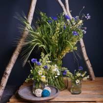 Vase i ribbet glass Ø7,5cm H9cm