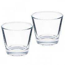 Glassvase klar Ø8,5cm H8cm 6stk