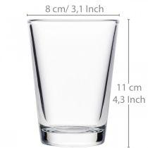Klar glassvase Ø8cm H11cm for borddekorasjon