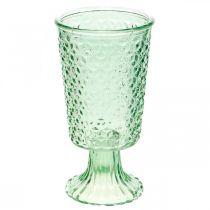 Glasslykt, koppeglass med base, glasskar Ø10cm H18,5cm