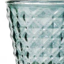 Koppglass med fot, glasslykt Ø11cm H15,5cm