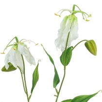 Gloriosa hvit kunstig 84cm 3stk