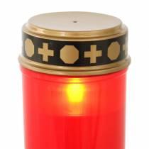 LED gravelys rødt, varmt hvitt timer batteridrevet Ø6,8 H12,2cm