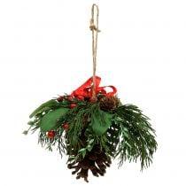 Julehenger med kjegler og bær 16cm
