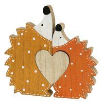 Høstdekorasjon pinnsvinpar med hjerte 15cm - 18cm