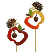 Høstpinner pinnsvin med eple 7cm 12stk