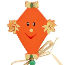 Høstplugg drage oransje L31cm 4stk