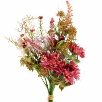 Blomsterbukett høst fuchsia 40cm